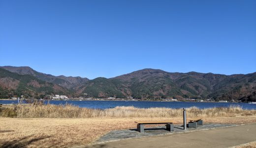 河口湖と富士山を満喫できる八木崎公園
